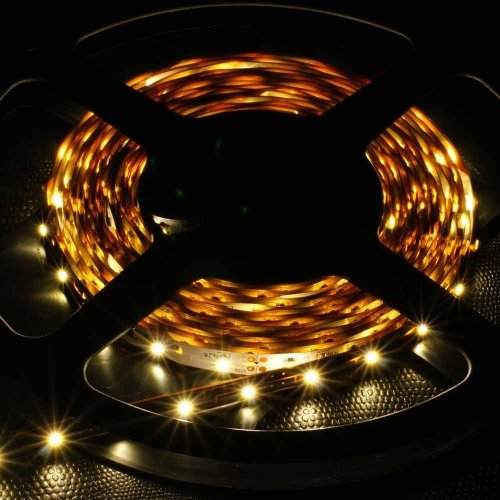 Supernight (Tm) Led Strip Light, Non Waterproof Led Flexible Light Strip 12V With 300 Smd Led, 5050 Warm White. 16.4 Foot / 5 Meter. front-56689