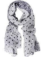 Kobwa(TM) Women Polka Dot Print Paris Yarn Long Shawl Scarf With Keyring