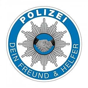 sticker german police polizei dein freund und helfer. Black Bedroom Furniture Sets. Home Design Ideas