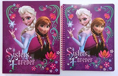 Disney Frozen Elsa & Anna 1 Subject Wide Ruled Notebook & Matching Portfolio 2 Pocket Folder - 1