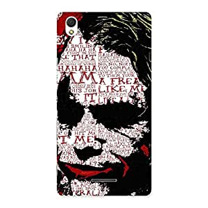 Cute Premier Psyco Typo Multicolor Back Case Cover for Sony Xperia T3