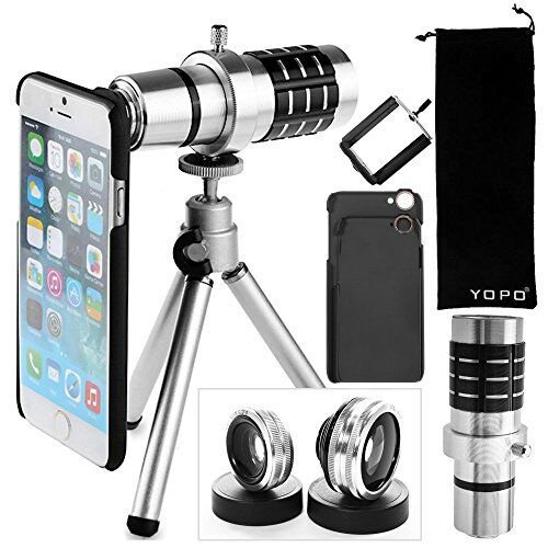 YOPO-Camera-Lens-Kit-for-iPhone-6-6s-Plus-Telephoto-LensFish-EyeMacro-Wide-Angle-Lens