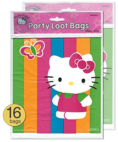 Hello-Kitty-Theme-Party-Treat-Loot-Bags-Wholesale-Bulk-Pack-of-16