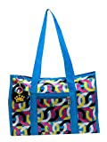 Neska Moda Blue Geometric Hand-Held Tote Bag with 5 Pockets - Medium Size-B71