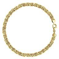 14K Yellow Gold Byzantine Style Link…
