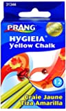Prang Hygieia Yellow Chalk, 3.25 x 0.375 Inch Sticks, 12 Count (31344)