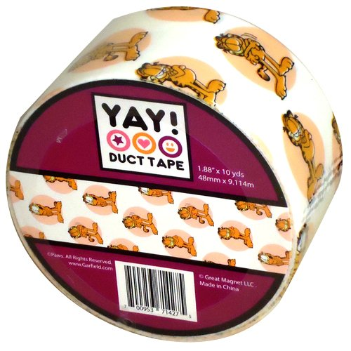 """Garfield® Craft Printed Duct Tape 1.88"""" x 10 yds"""