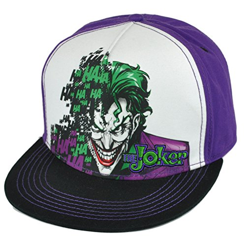 DC Comics Batman The Joker Villain Dye Sublimation Snapback Flat Bill Hat Cap at Gotham City Store