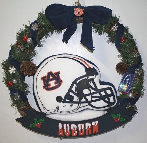 "Auburn Tigers 20"" Helmet Door Wreath at Amazon.com"