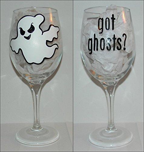 Got Ghosts Wine Glass