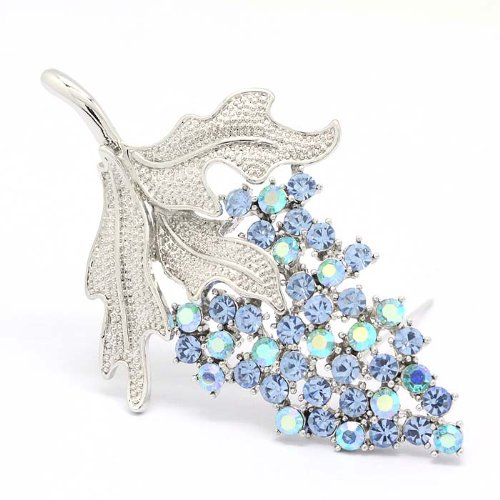 Fashion Grape Fruit Blue Austria Crystal Gold