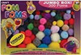 Pepperell Assorted Pom Poms, Standard Colors, 300 Per Package