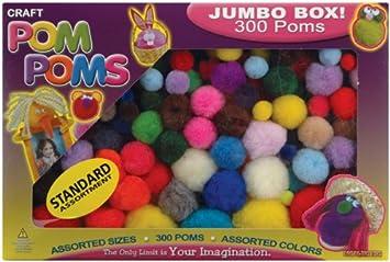 Assorted Pom Poms, 300
