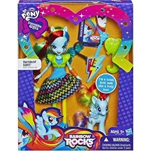 My Little Pony Equestria Girls Rainbow Rocks Rainbow Dash Doll and Pony Set WLM