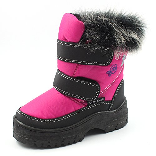 Storm Kidz Cold Weather Snow Boot 1316 Pink Size 8 (Pink Insulated Boots compare prices)