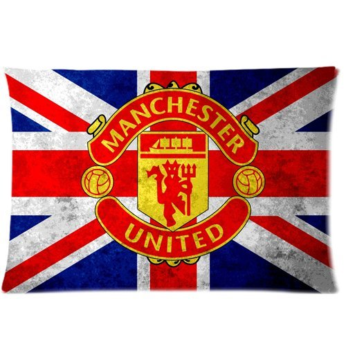 Manchester United ManUtd MUFC Zippered Pillow Cases 20x30(Twin sides) (Manchester United Classic compare prices)