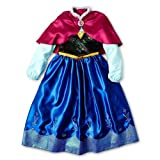 Disney Store Frozen Princess Anna Costume Dress with Cape Size 9/10