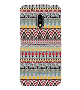 Arrow Pattern Wallpaper 3D Hard Polycarbonate Designer Back Case Cover for Motorola Moto G4 :: Motorola Moto G (4th Gen)