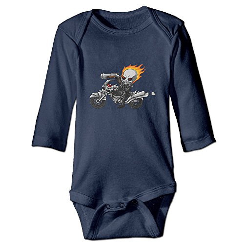 [DETED Ghost Rider Poster Cute Newborn Baby Climb Jumpsuit Size6 M Navy] (Blue Ghost Pill Costume)