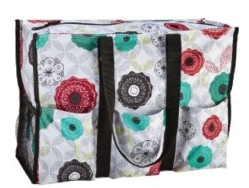 Thirty One Super Organizing Tote Organic Poppy front-779203