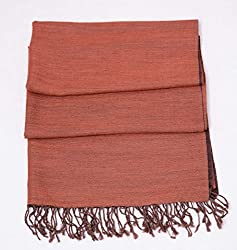 Kinari Women's Pashmina Stole (Orange & Purple)
