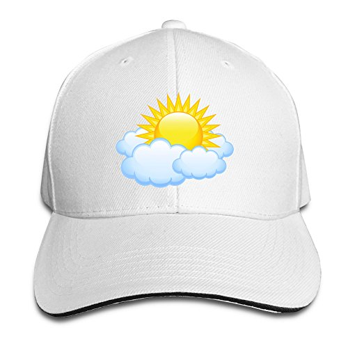 sun-and-cloud-unisex-100-cotton-adjustable-basaball-cap-white-one-size