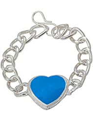 Memoir Salman Inspired Silver Plated Heartshape Bracelet For Men And Women