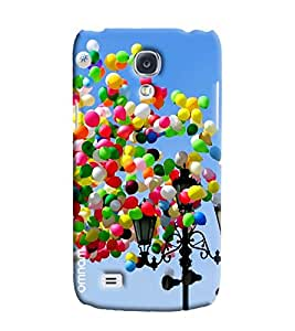 Omnam Colorful Ballons Flying Printed Designer Back Cover Case For Samsung Galaxy S4