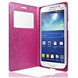 HOT PINK FOR SAMSUNG GALAXY GRAND 2 G7106 GOSB S-VIEW WINDOWS METALLIC BATTERY BACK WALLET FLIP PU LEATHER CASE COVER -PART OF JJONLINESTORE ACCESSORIES