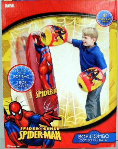 "Ball Bounce and Sport Toys 36"" Spiderman Bop Bag/Glove Combo"