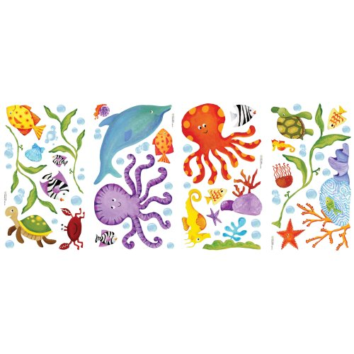 RoomMates RMK1851SCS Adventures Under the Sea Peel and Stick Wall Decals - 1