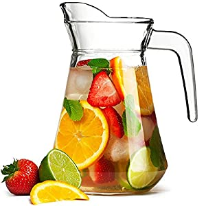 City Glass Pitcher 51oz / 1.45ltr | Glass Cocktail Jug from bar@drinkstuff