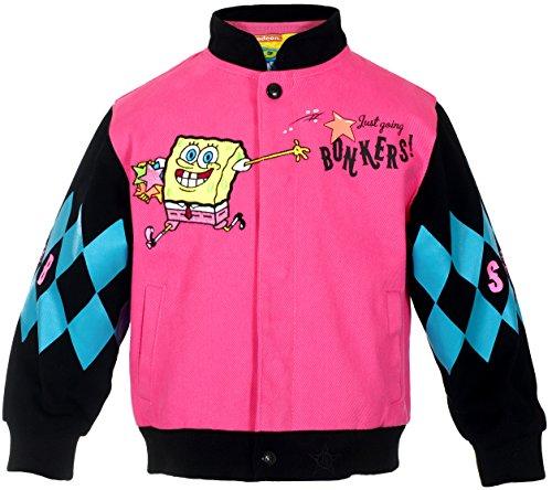 [Girl's SpongeBob Square Pants WAH HOO Snap-Up Jacket (6)] (Spongebob Dress)