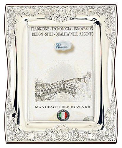 BAROCCO Cornice per Foto Portafoto Argento Artigianale Made in Italy Foto ca.13x18 cm