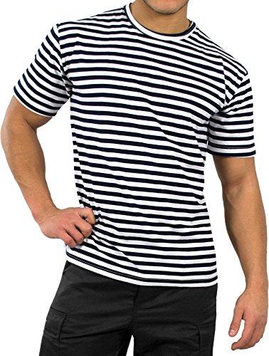 Russisches Marine T-Shirt rundhals S-XXXL Größe M