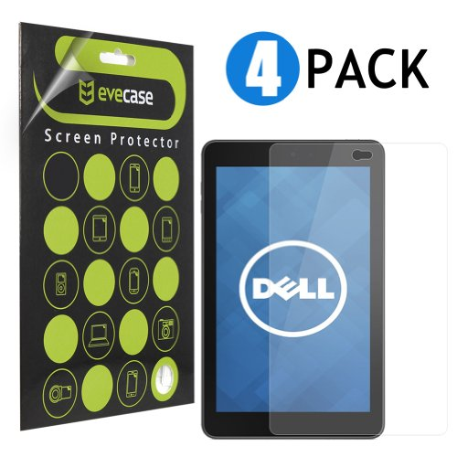 Evecase Clear & Anti-Glare Matte Screen Protector Mix Set For Dell Venue 7 - 7.0 Inch Ips Screen Android Tablet - 4-Pack