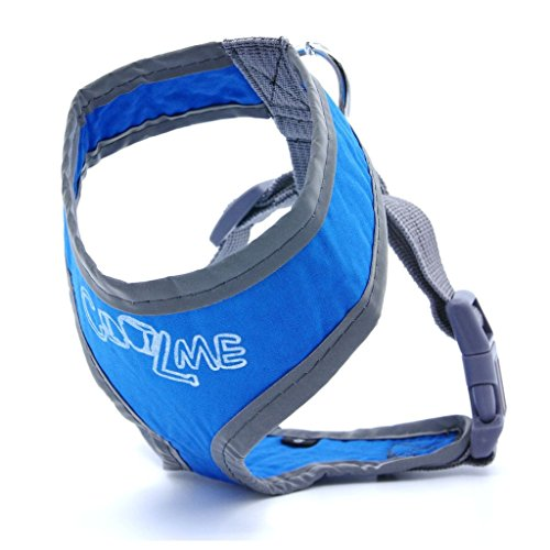 DogLemi Summer Cooling Reflective Dog Harness Vest For Small Medium Dogs Puppies Keep Your Dog Cool All Summer L Blue Color with Reflective Piping