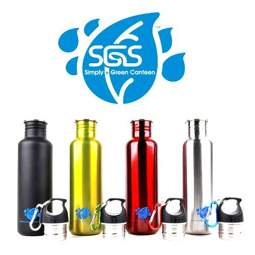 Stainless Steel Water Bottle Canteens Family 4 Pack 25Oz. - 4 Color Variety front-1044787