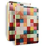 ipad mini1/2/3/4 ケース おしゃれ 手帳型 横開き ポップエネルギー(Pop Energy)ipad mini スマートカバー チェック 切り替え ipad mini1/2/3/4 対応 (ipad mini1/2/3)