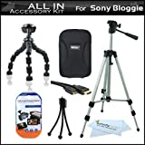 "All In Accessories Bundle Kit For Sony Bloggie Duo MHS-FS2 Video Camera Includes Hard Case + 50"" Tripod w/ Case + Flexible Tripod + Mni HDMI Cable + LCD Screen Protectors + Mini Tabletop Tripod + More"