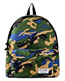 Cute Camo Travel Backpack for School Teenage Holds 13-inch Laptop - Woodland
