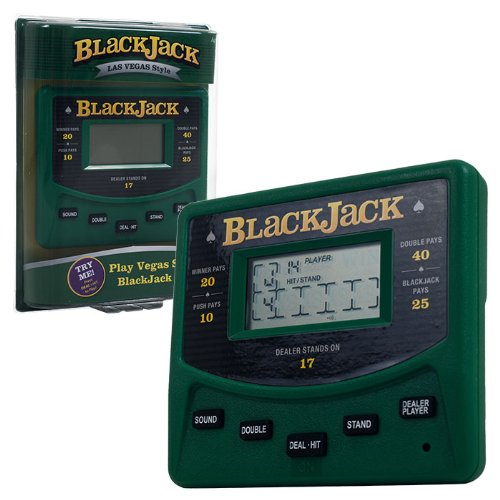Trademark Global Electronic Handheld Las Vegas Style Blackjack Game (Electronic Poker Game compare prices)