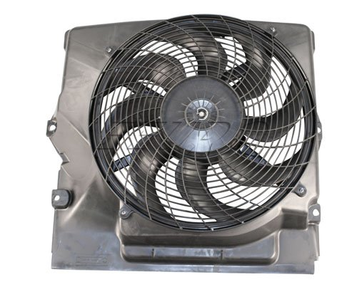 Bmw E36.7 Auxiliary Fan Assy + Shroud @ A/C Condenser Electric Secondary Radiator Cooling Motor + Blade