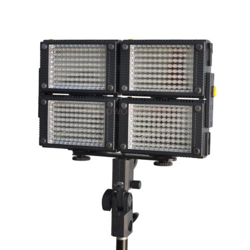 4 X Hdv-Z96 Z-Flash Z96-Ii Led Hd Video Light Kit Z96 Led Video Light+4X Np-F550 Battery+4Xnp-F550 Battery Charger+ Stand Bracket +2 X F&V Padded Handle