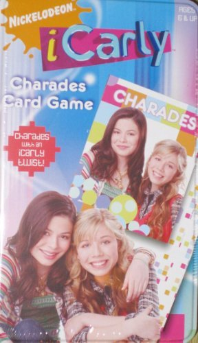iCarly Charades Card Game in Collector Tin Case
