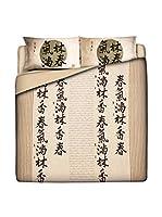 JAPAN MANIA by MANIFATTURE COTONIERE Juego De Funda Nórdica Kyoto Tales (Beige/Multicolor)