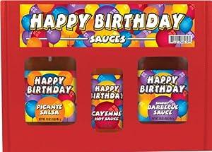HSH HAPPY BIRTHDAY Gourmet Gift Box Set 3 packs by Hot Sauce Harry's