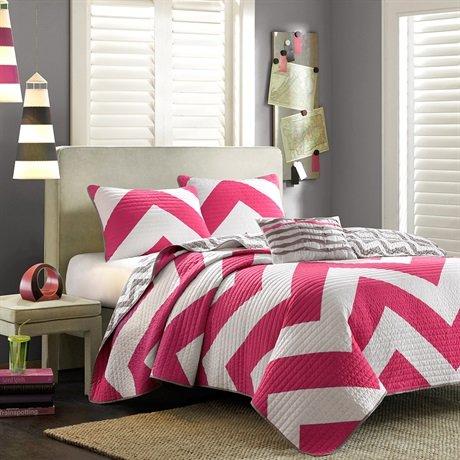 Mizone Libra Coverlet Set - Pink - Twin/Twin Xl front-859312