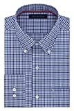 Tommy Hilfiger Mens Non Iron Regular Fit Tattersall Buttondown Collar Dress Shirt