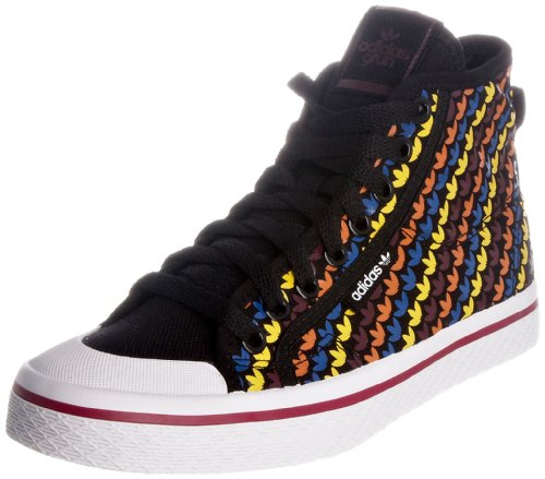 Adidas Women's Black/Multicolour Honey Mid Top Trainers 3.5 UK